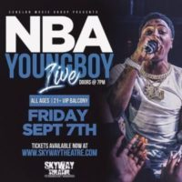 NBA YoungBoy in Concert Friday Sept. 7th @ Varsity Theatre Mpls.