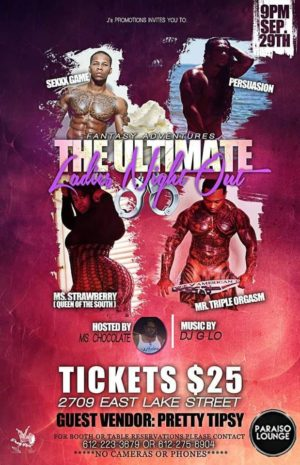 The Ultimate Ladies Night September 29th